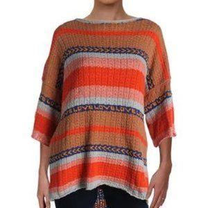 Free People Striped Tunic Sweater